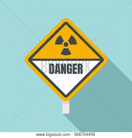Danger Radiation Zone Sign Icon. Flat Illustration Of Danger Radiation Zone Sign Vector Icon For Web