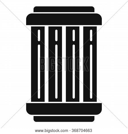 Nuclear Capsule Icon. Simple Illustration Of Nuclear Capsule Vector Icon For Web Design Isolated On