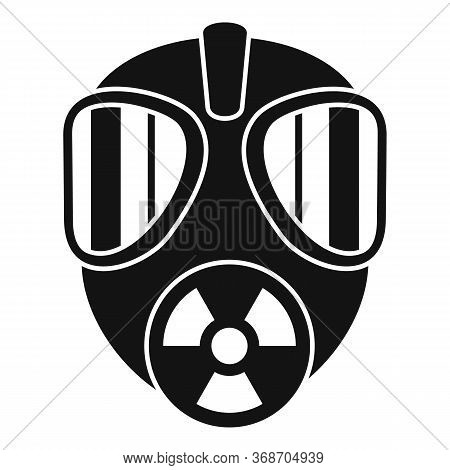 Gas Radiation Mask Icon. Simple Illustration Of Gas Radiation Mask Vector Icon For Web Design Isolat