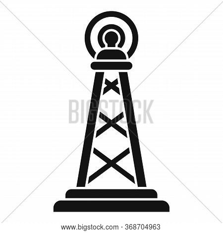 Gsm Radiation Tower Icon. Simple Illustration Of Gsm Radiation Tower Vector Icon For Web Design Isol