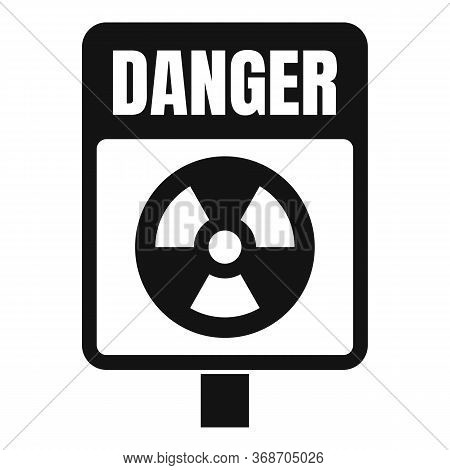 Danger Zone Icon. Simple Illustration Of Danger Zone Vector Icon For Web Design Isolated On White Ba
