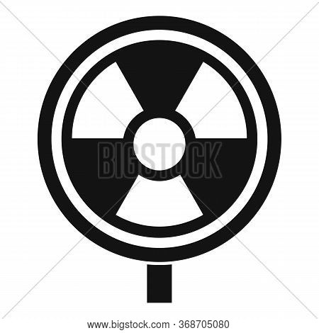 Hazard Radiation Icon. Simple Illustration Of Hazard Radiation Vector Icon For Web Design Isolated O