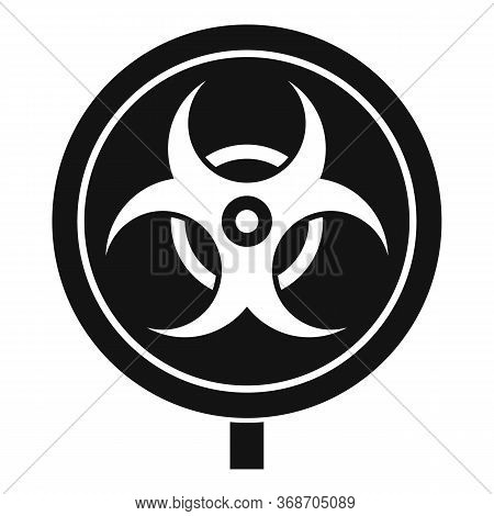Hazard Zone Sign Icon. Simple Illustration Of Hazard Zone Sign Vector Icon For Web Design Isolated O