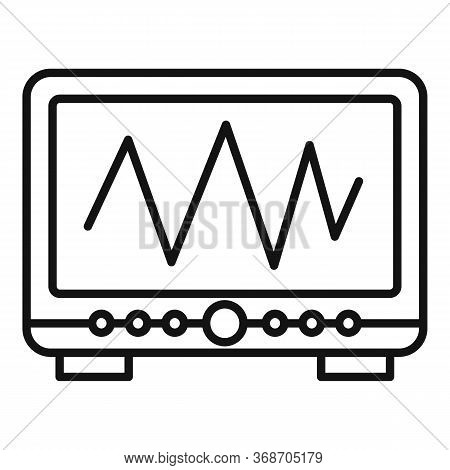 Radiation Wave Device Icon. Outline Radiation Wave Device Vector Icon For Web Design Isolated On Whi