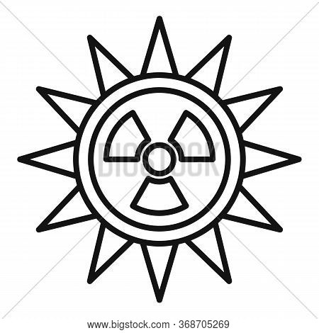 Sun Radiation Icon. Outline Sun Radiation Vector Icon For Web Design Isolated On White Background