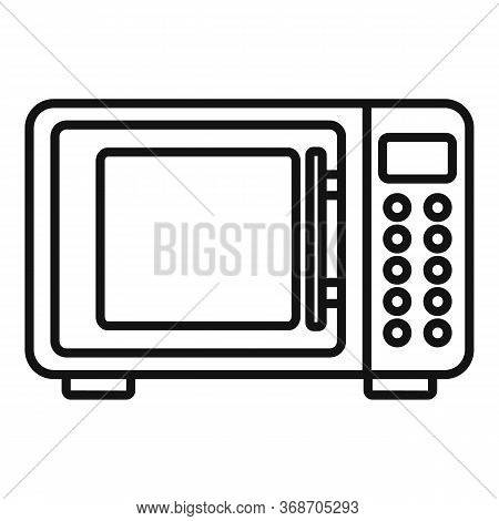 Microwave Radiation Icon. Outline Microwave Radiation Vector Icon For Web Design Isolated On White B