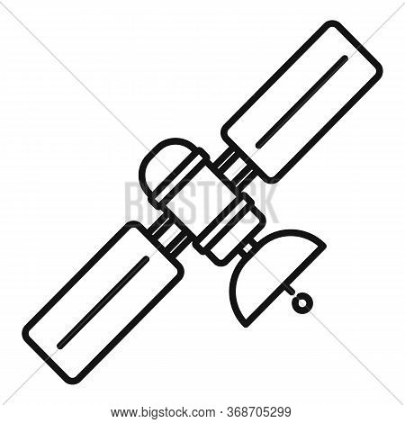 Space Satellite Icon. Outline Space Satellite Vector Icon For Web Design Isolated On White Backgroun