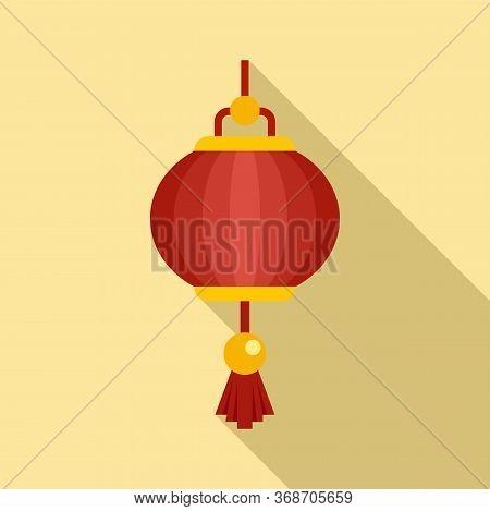 Festival Chinese Lantern Icon. Flat Illustration Of Festival Chinese Lantern Vector Icon For Web Des