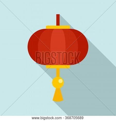 Traditional Chinese Lantern Icon. Flat Illustration Of Traditional Chinese Lantern Vector Icon For W
