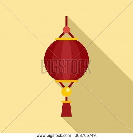 Dragon Chinese Lantern Icon. Flat Illustration Of Dragon Chinese Lantern Vector Icon For Web Design