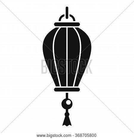 Chinese Lantern Light Icon. Simple Illustration Of Chinese Lantern Light Vector Icon For Web Design