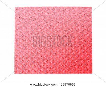 Red  kitchen sponge