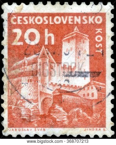 Saint Petersburg, Russia - May 17, 2020: Postage Stamp Issued In The Czechoslovakia With The Image O