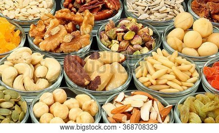Dry Fruits,various Kinds Of Dried Fruits Back Ground