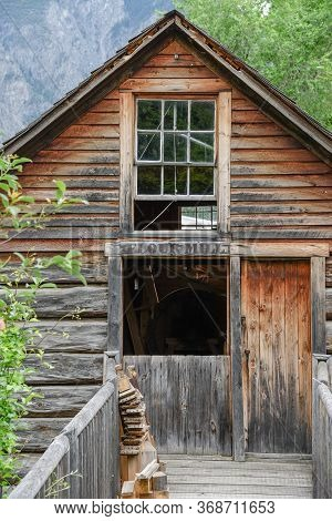 Williams Lake, British Columbia/canada - June 3, 2017: The Old Flour Mill Building At The Grist Mill