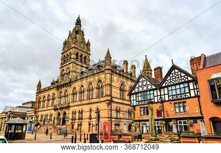 The Town Hall Of Chester In England, Uk