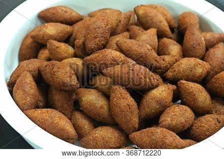 Deep Fried Kibbeh Lebanese Style Speciality Food