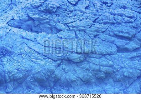 Blue Iceberg Abstract Closeup Paradise Bay Skintorp Cove Antarctica. Glacier Ice Blue Because Air Sq