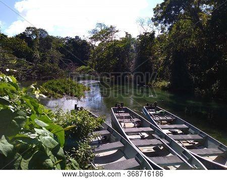 Boat Trip (float Ride)  On The Sucuri River, Bonito, Mato Grosso Do Sul, Brazil.