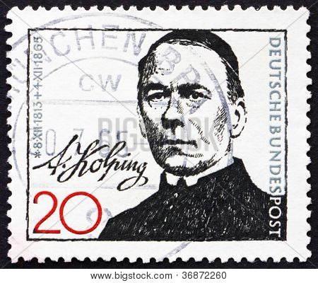 Postage stamp Germany 1965 Adolph Kolping