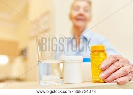 Various medications as therapy in the correct dosage for a patient