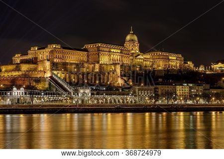 Royal Palace (buda Palace) Of Hungary From Budapest