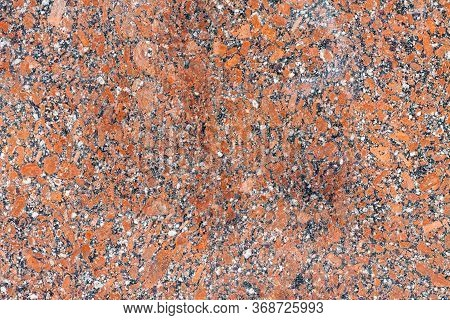 Brown Granite Surface Can Be Used As Texture Or Background. Tile Decoration Of Building