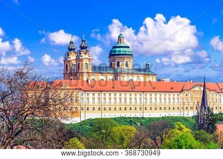 Melk Abbey  - Benedictine abbey above the town of Melk, Lower Austria, famous for cruises over Danube river