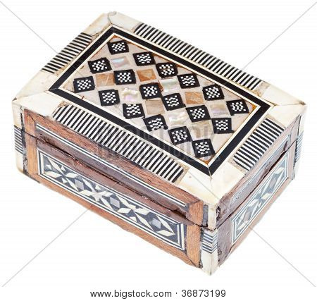 Small Indian Incrusted Wooden Chest