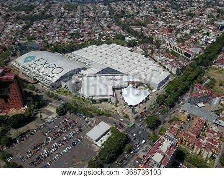 Guadalajara, Mexico - June 29 2019: Vista Aerea De La Expo Guadalajara