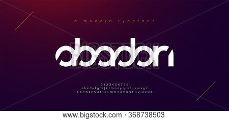 Abstract Sport Modern Alphabet Fonts. Typography Technology Electronic Sport Digital Game Music Futu
