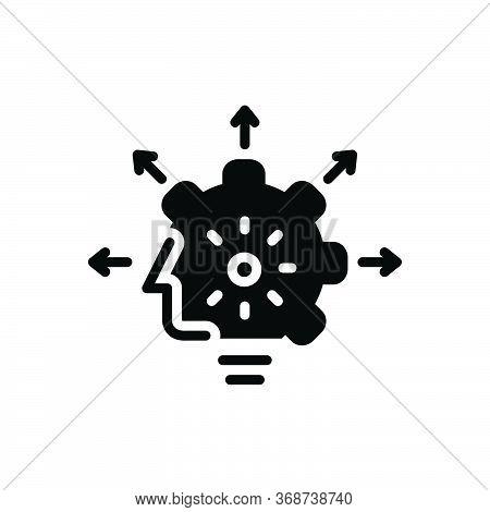 Black Solid Icon For Capabilities Capacitation Ability Caliber Capability