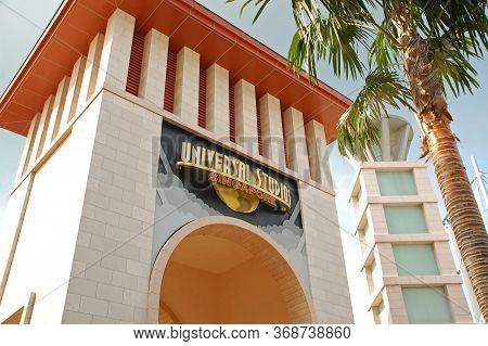 Sentosa, Sg - April 5 - Universal Studios Singapore Entrance Arch On April 5, 2012 In Sentosa, Singa