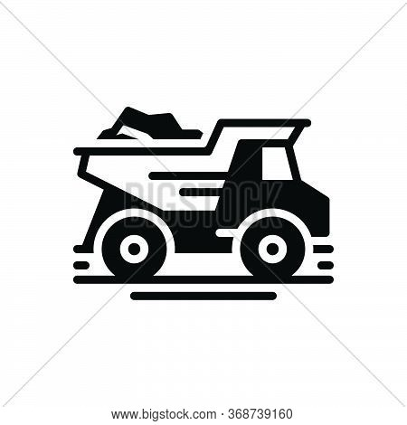 Black Solid Icon For Dump-truck  Dump Truck   Garbage-truck Quarry