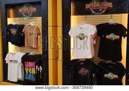 Sentosa, Sg - April 5 - Universal Studios Singapore Shirt Display On April 5, 2012 In Sentosa, Singa