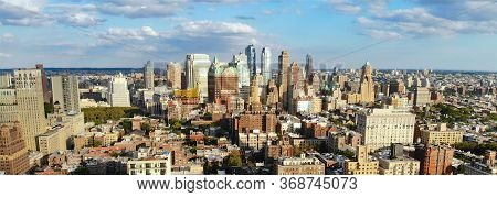 Aerial View Of Downtown Brooklyn. New York City. Brooklyn Is The Most Populous Of New Yorks Five Bor