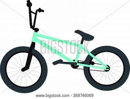 A Bmx Bike On A White Background
