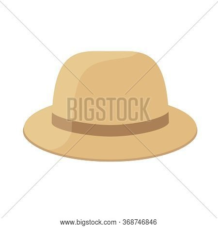 Brown Hat Clip Art Isolated On White, Hat Cartoon For Infographics, Illustration Cartoon Hat Simple