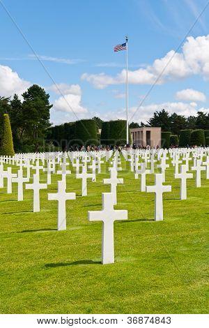 American War Cemetery At Omaha Beach, Normandy (colleville-sur-mer )