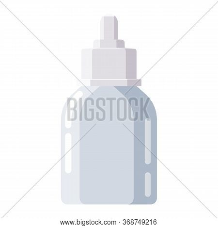 Pharmacy Of Plastic White Bottle Dropper With Screw Cap For Medicine, Pills, Tabs, Drugs, Cosmetic,