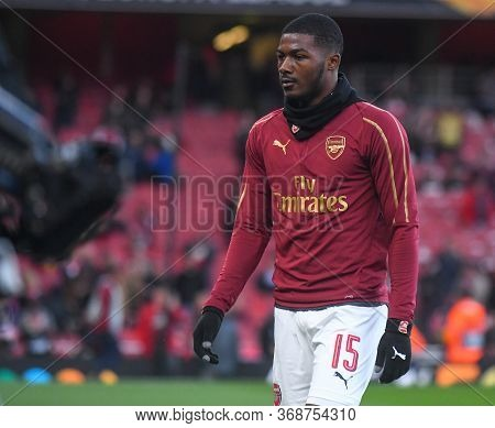 London, England - May 2, 2019: Ainsley Maitland-niles Of Arsenal Pictured Ahead Of The First Leg Of