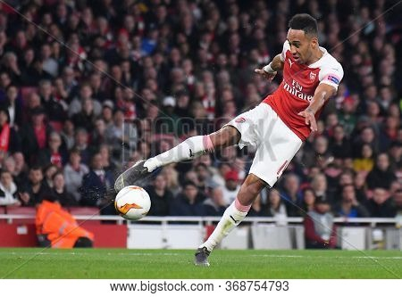 London, England - May 2, 2019: Pierre-emerick Aubameyang Of Arsenal Pictured During The First Leg Of