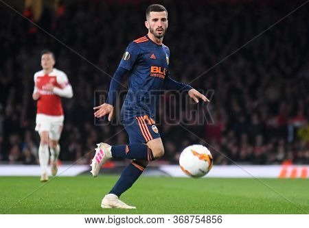 London, England - May 2, 2019: Jose Gaya Of Valencia Pictured During The First Leg Of The 2018/19 Ue