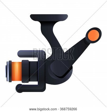 Activity Fishing Reel Icon. Cartoon Of Activity Fishing Reel Vector Icon For Web Design Isolated On