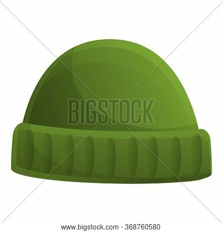 Fisherman Beanie Icon. Cartoon Of Fisherman Beanie Vector Icon For Web Design Isolated On White Back