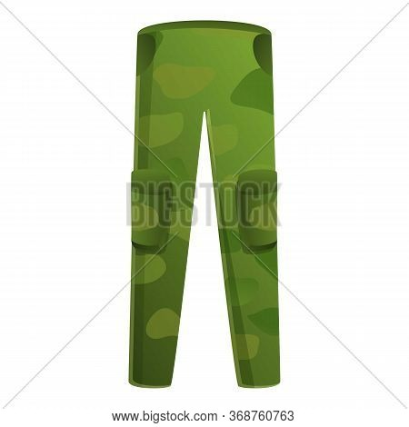 Fisherman Pants Icon. Cartoon Of Fisherman Pants Vector Icon For Web Design Isolated On White Backgr