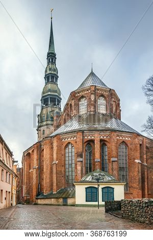St. Peter's Church Is A Lutheran Church In Riga, The Capital Of Latvia