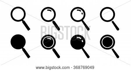 Magnifying Glass Icon. Search Symbol. Loupe Sign In Flat Style. Vector
