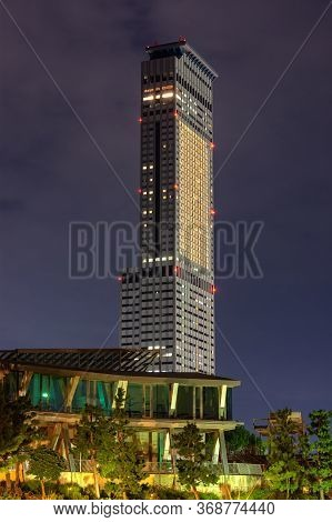 Osaka / Japan - October 5, 2017: Rinku Gate Tower Building Skyscraper, The Third Tallest Building In