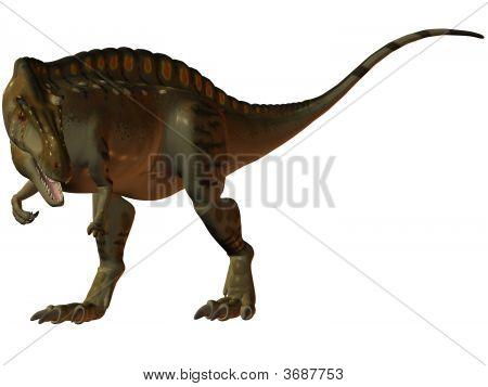 3 D Render of an Acrocanthosaurus-3D Dinosaur poster
